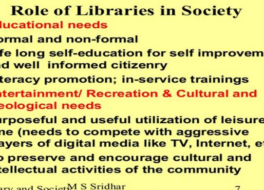 The Role of Library and Librarian in Education